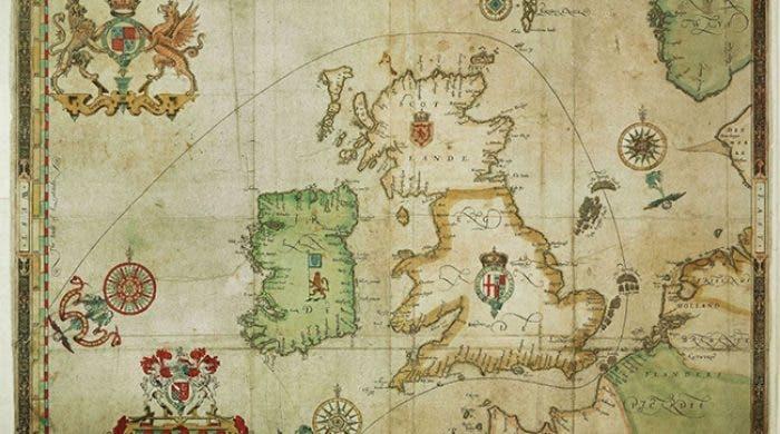 خريطة تبرز الطريق الذي سلكته الأرمادا الإسبانية