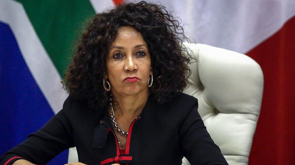 South African Minister of International Relations and Cooperation Lindiwe Sisulu gives a joint press conference with French Minister of Europe and Foreign Affairs, following the 8th Session of the South Africa-France Forum for Political Dialogue (FPD) at OR Tambo Building on February 28, 2019 in Pretoria. (AFP)