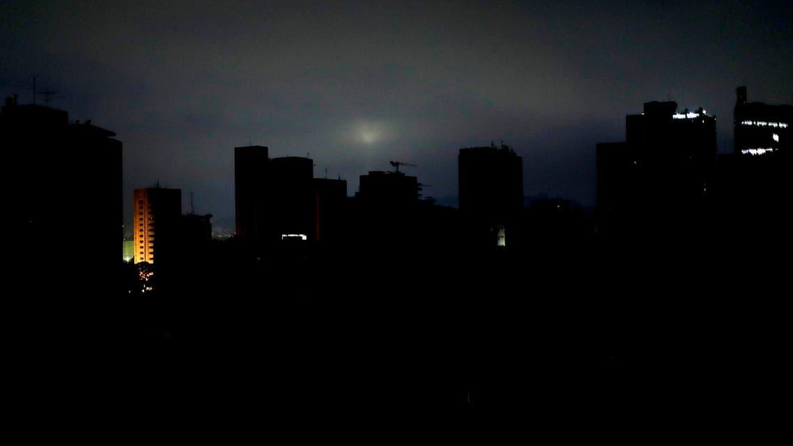 Caracas Venezuela blackout - AP