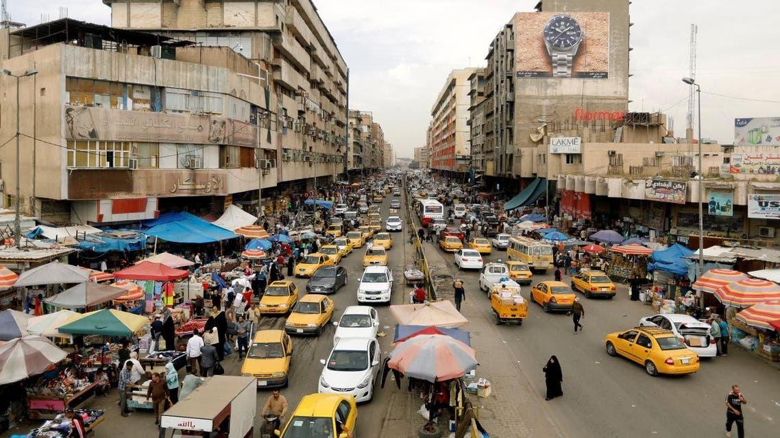 A general view of cars at the Al-Shurja Market in Baghdad, Iraq. (Reuters)