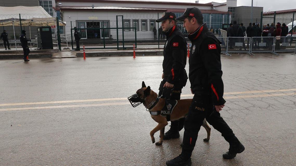 Turkish police patrol in Ankara on December 12, 2018. (File photo: AFP)
