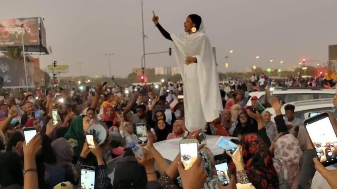 Sudani female who uplift the campaign in social Media
