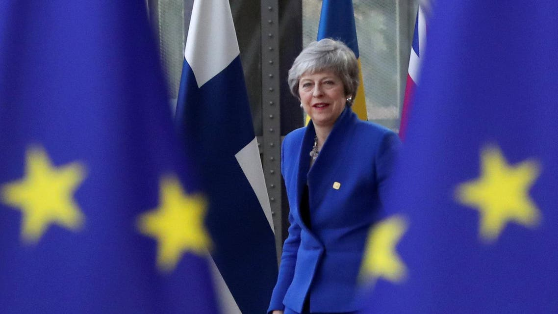 Britain's Prime Minister Theresa May arrives at an extraordinary European Union leaders summit to discuss Brexit. (Reuters)