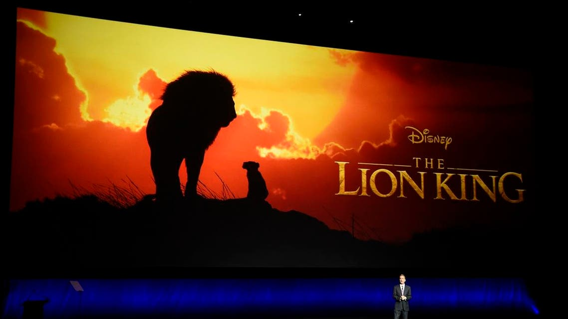 """Sean Bailey, president of Walt Disney Studios Motion Picture Production, discusses the upcoming live-action film """"The Lion King"""" during the Walt Disney Studios Motion Pictures presentation at CinemaCon 2019. (AP)"""