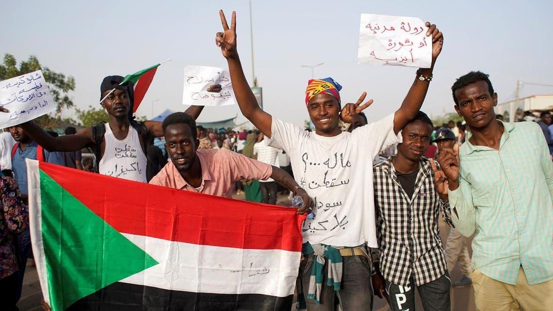 Sudan protesters. (Reuters)