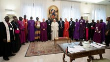 Pope kisses feet of South Sudan leaders, urging them to keep the peace