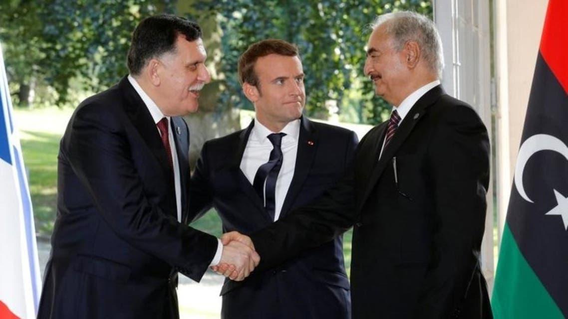 حفتر والسراج في فرنسا