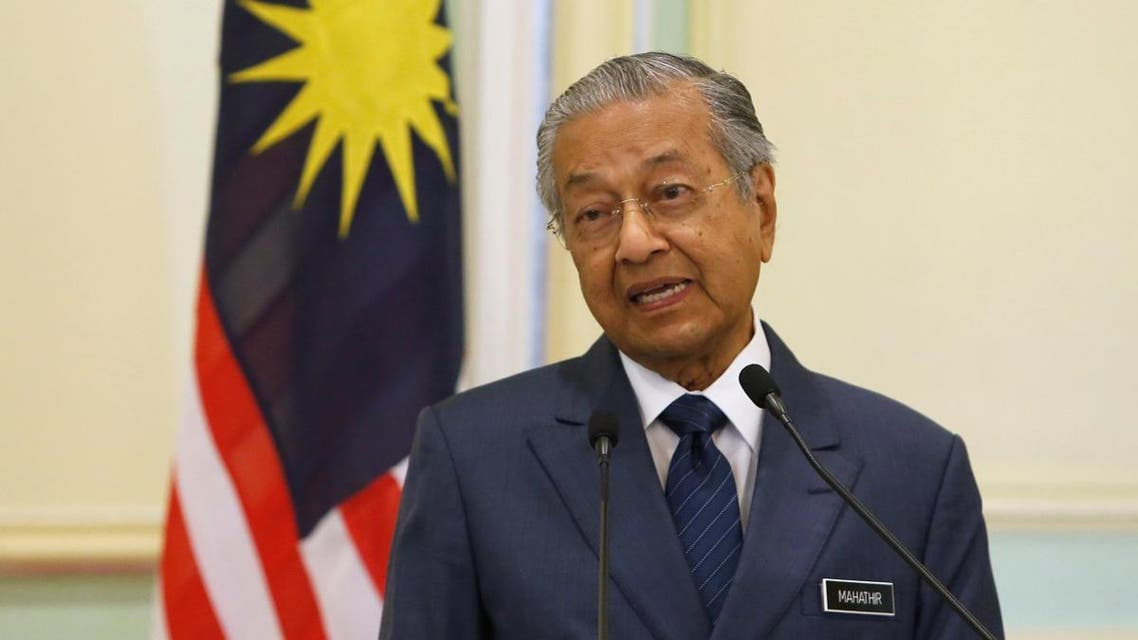 Malaysia's Prime Minister Mahathir Mohamad speaks during a joint news conference. (Reuters)