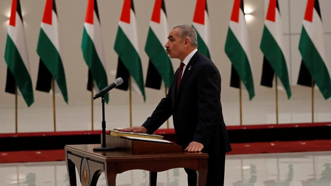 Mohammad Shtayyeh is sworn in as a Palestinian Prime Minister. (Reuters)