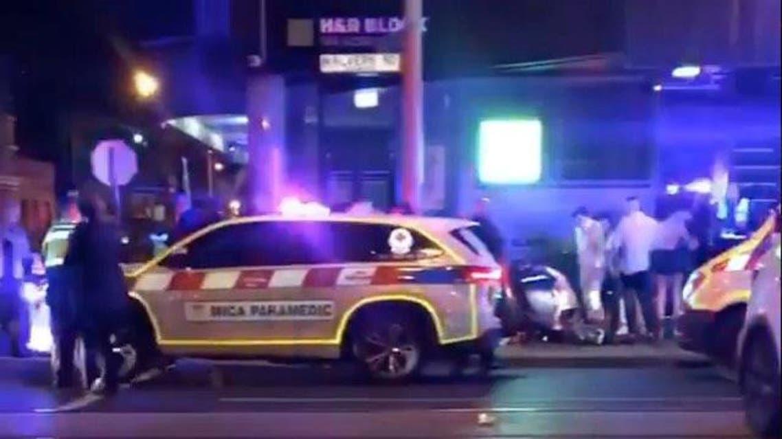 Australia shooting infront of Machine Nightclub. (Reuters)