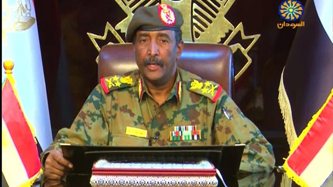 A photo of Lieutenant General Abdel Fattah al-Burhan, the new chief of the military council. (AFP)