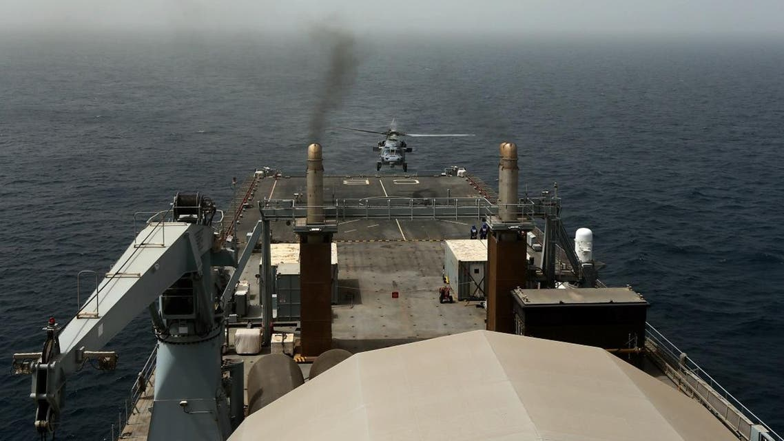 File photo of the US Navy conducting military exercises off Bahrain. (AFP)