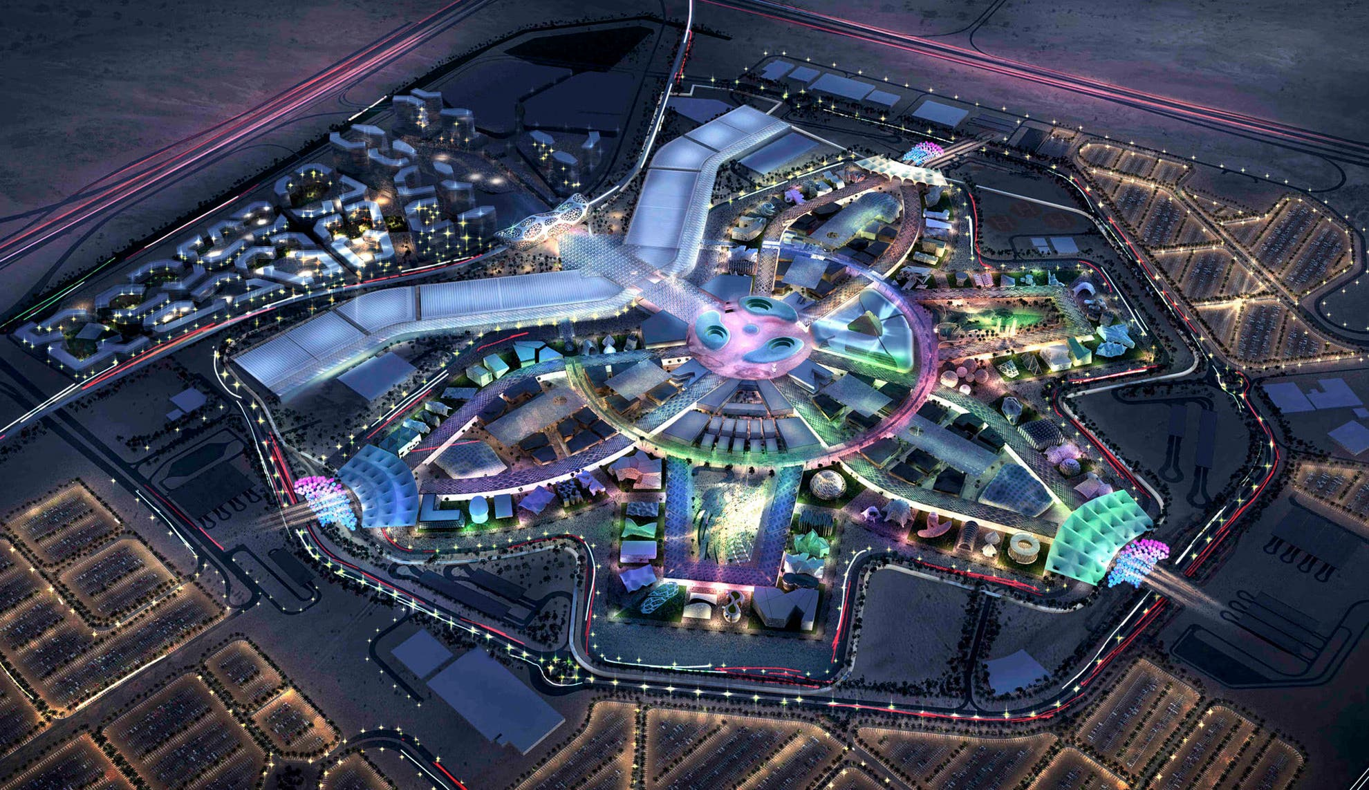 A concept image of the EXPO 2020 site released on November 13, 2018. (AP)