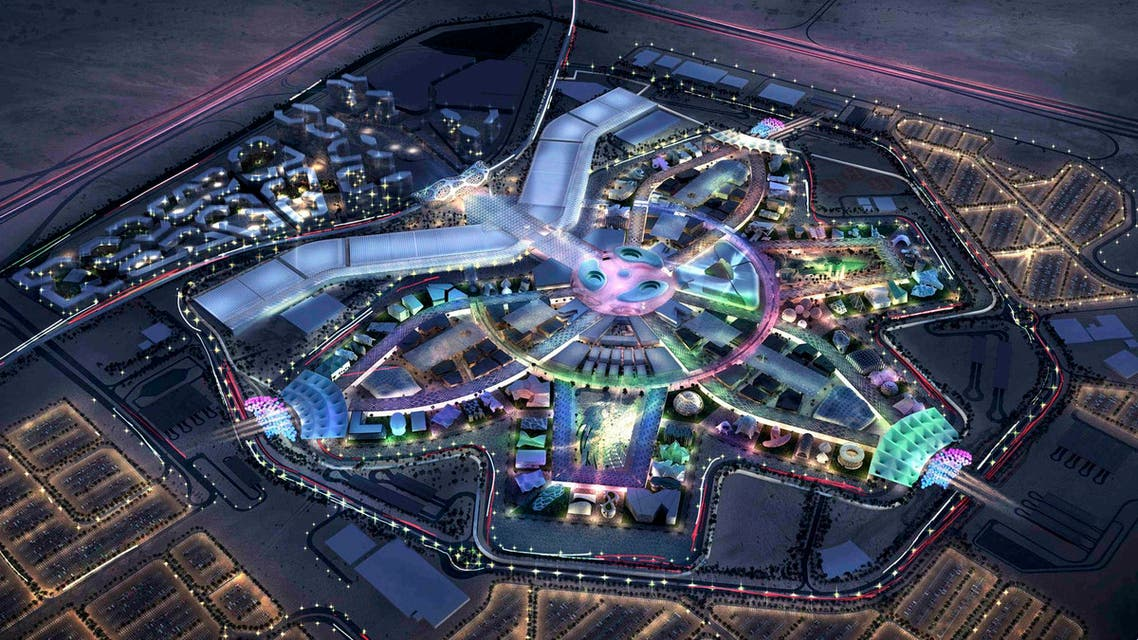 A concept image of the EXPO 2020 site released on Nov. 13, 2018. (AP)
