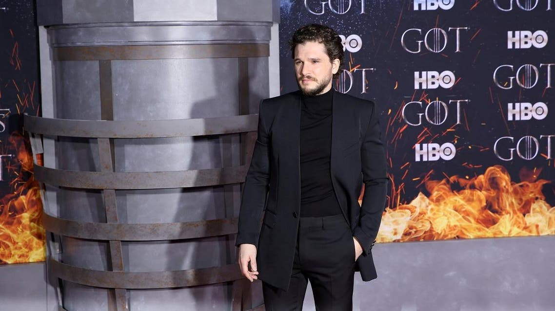 """Kit Harington arrives for the premiere of the final season of """"Game of Thrones"""" at Radio City Music Hall in New York. (Reuters)"""