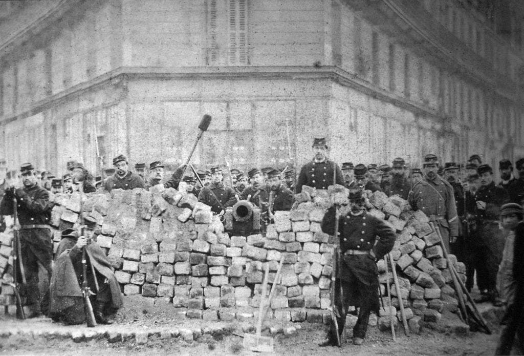 صورة لإحدى التحصينات التي سيطر عليها الجيش الفرنسي خلال قمع ثورة الكومون