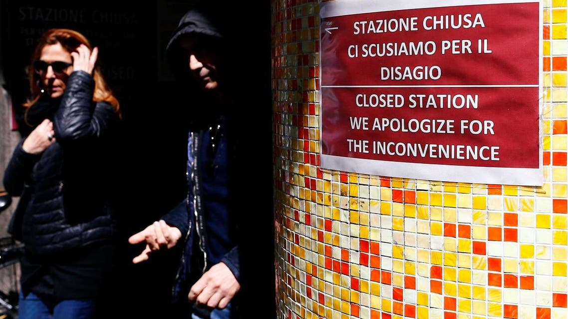 Main metro station at the famous Spanish Steps square remains closed after nearly six months bringing a slump in the number of visitors to the once-busy shopping area in Rome, Italy. (Reuters)