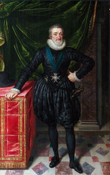 صورة للملك الفرنسي هنري الرابع