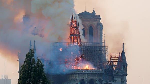 شاهد من الجو.. لقطات محزنة لنوتردام في باريس