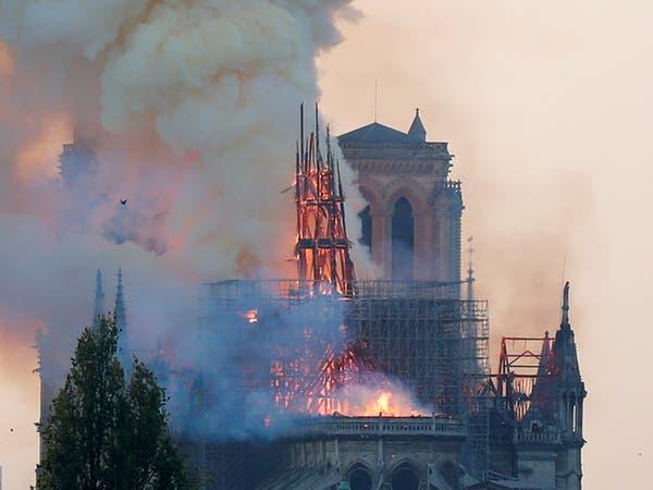 """بعد حريق نوتردام.. اقتراح فرنسي بشأن """"التراث المهدد"""""""