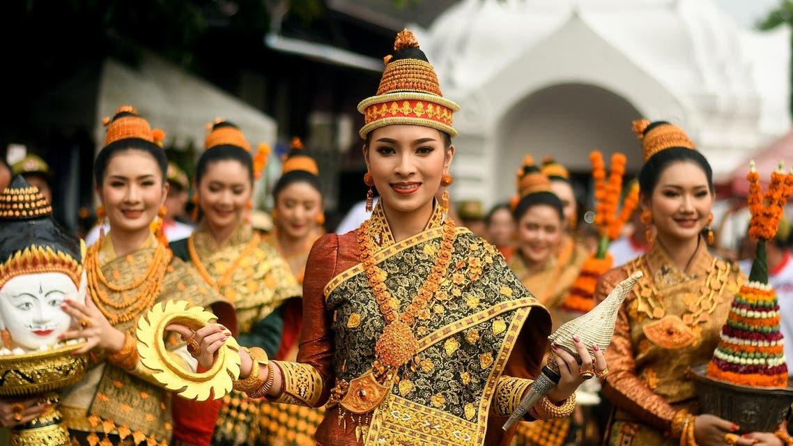 "Miss Laos New Year or ""Nang Sang Khan"" pageant winner Mila Douangximay. (AFP)"