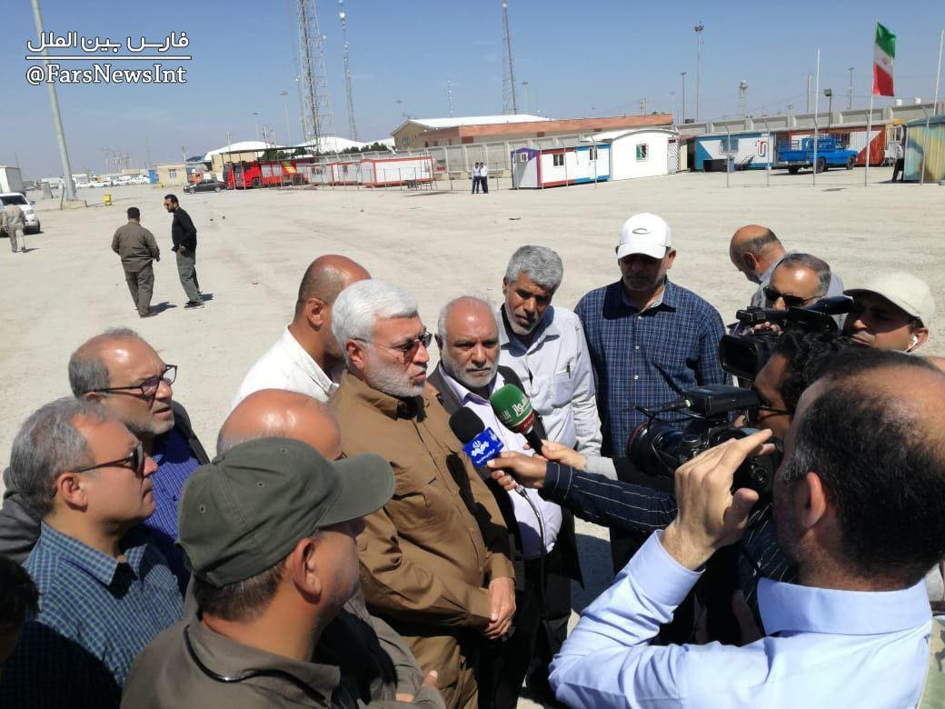 ابومهدي المهندس نائب رئيس الحشد الشعبي لدي وصوله الاهواز