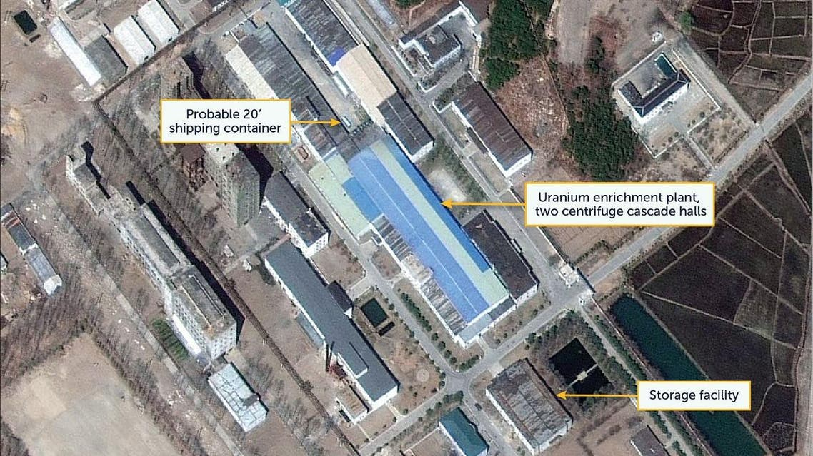 Satellite image of the Yongbyon Nuclear Research Center in North Pyongan Province, North Korea, taken on April 12, 2019. (Reuters)