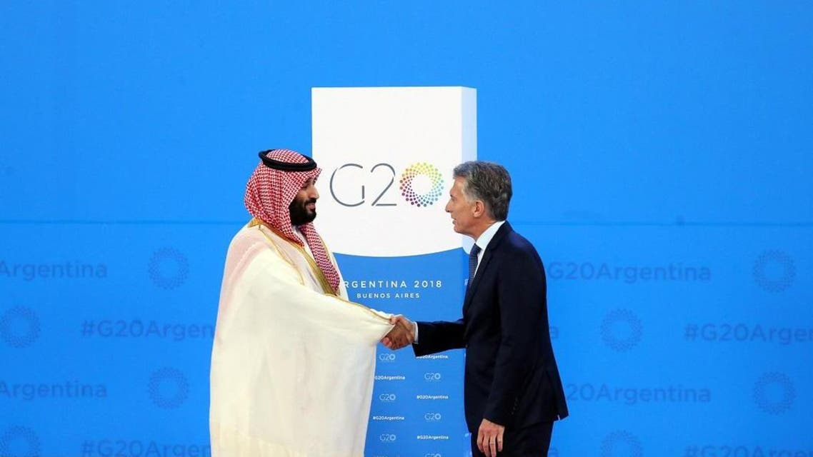 Saudi Arabia's Crown Prince Mohammed bin Salman greets Argentina's President Mauricio Macri during his arrival at the G20 Summit in Buenos Aires last year. (File photo: Reuters)