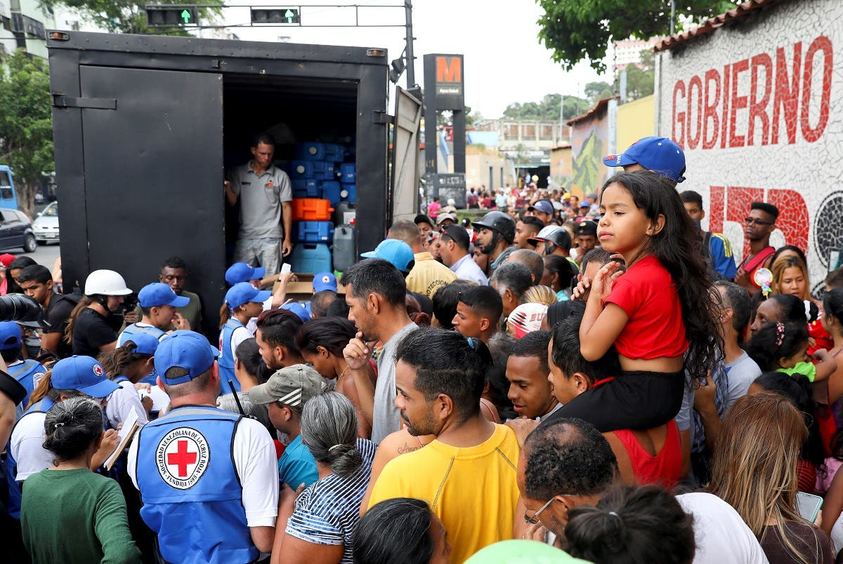 The first shipment of humanitarian aid from the Red Cross, intended to alleviate a serious economic crisis in Venezuela, has arrived.  (Reuters)