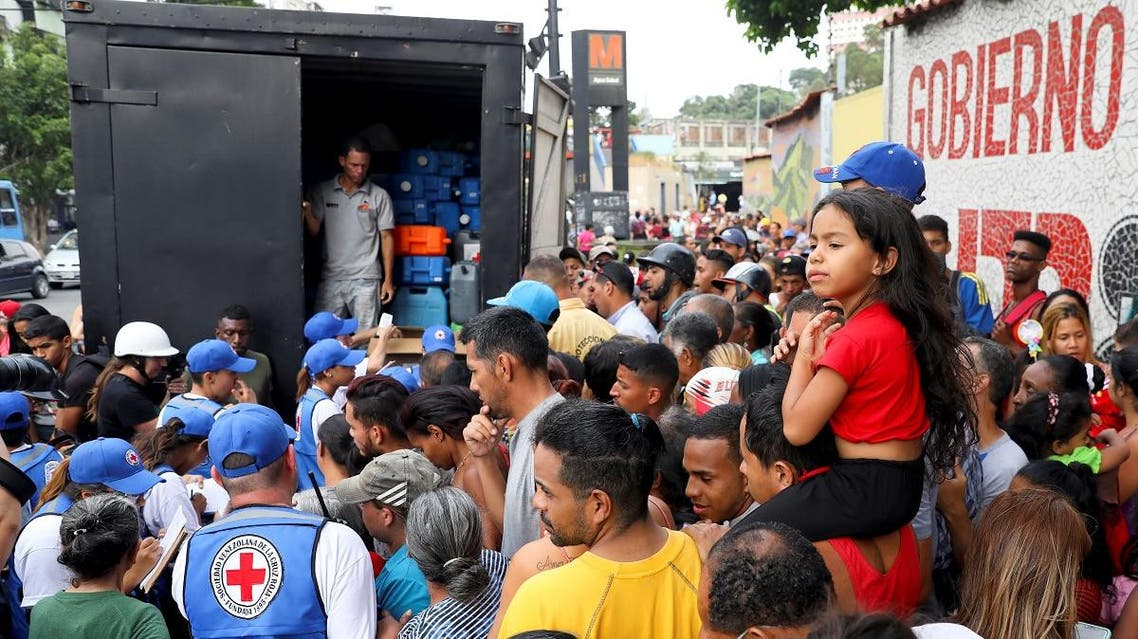 The first shipment of humanitarian aid from the Red Cross intended to alleviate a dire economic crisis in Venezuela arrived. (Reuters)