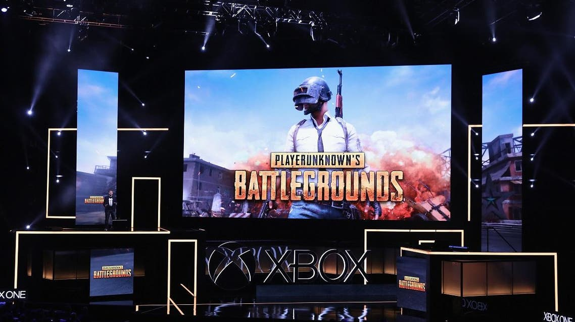: Creater Brendan Greene announces 'PlayerUnknown's Battlegrounds' during the Microsoft xBox E3 briefing at the Galen Center on June 11, 2017 in Los Angeles, California. (AFP)