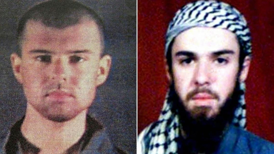 """A combination of pictures of """"American Taliban"""" John Walker Lindh taken in 2002. (AFP)"""