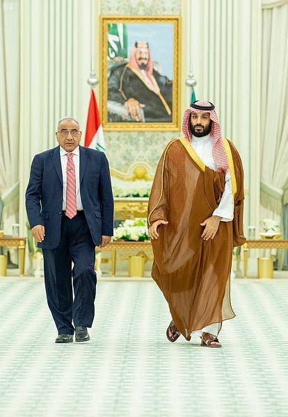 ولي العهد السعودي الأمير محمد بن سلمان ورئيس الوزراء العراقي عادل عبدالمهدي