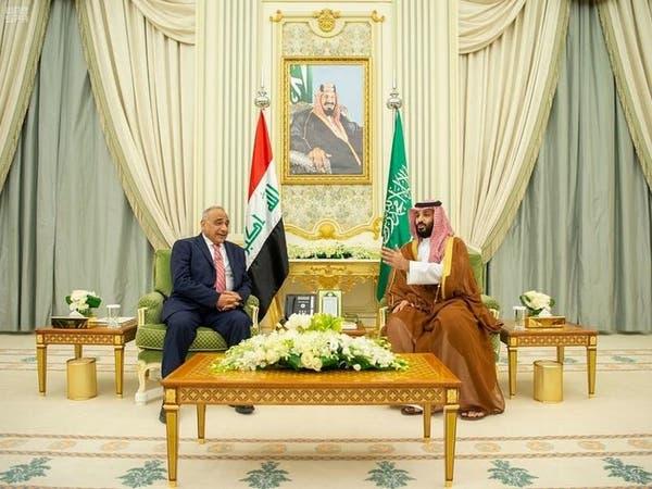 ولي العهد السعودي ورئيس وزراء العراق يبحثان مجالات التعاون بين البلدين
