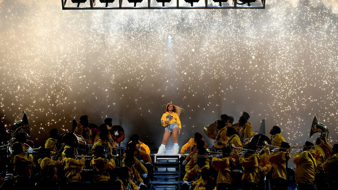 INDIO, CA - APRIL 14: Beyonce Knowles performs onstage during 2018 Coachella Valley Music And Arts Festival Weekend 1 at the Empire Polo Field on April 14, 2018 in Indio, California. Larry Busacca/Getty Images for Coachella /AFP