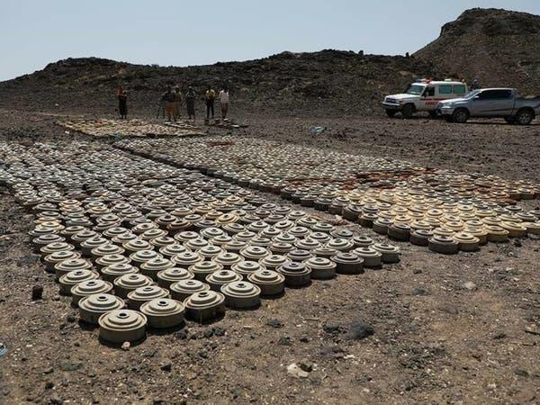 شاهد إتلاف أكثر من 5000 لغم زرعها الحوثي بالجوف