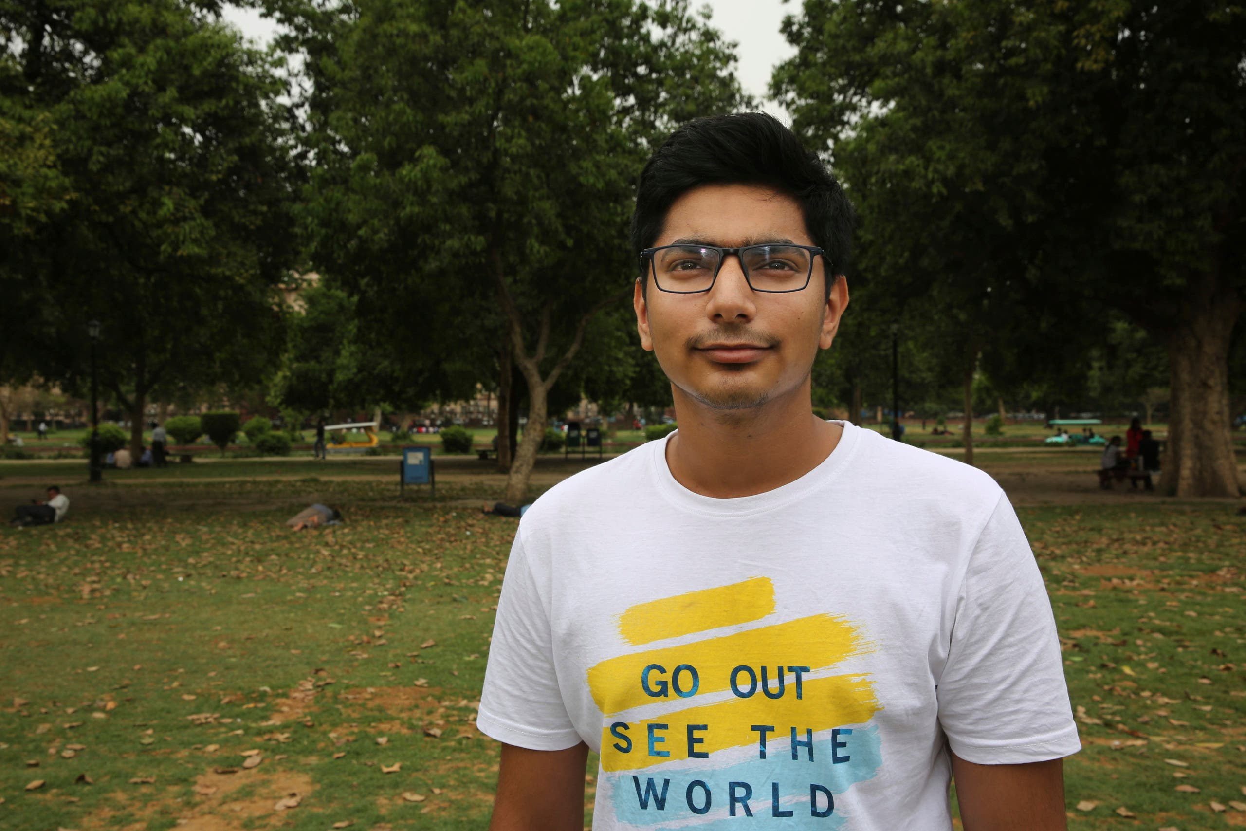 University student Jitesh Nagpal, 20, stands for a photograph in New Delhi, India. (AP)