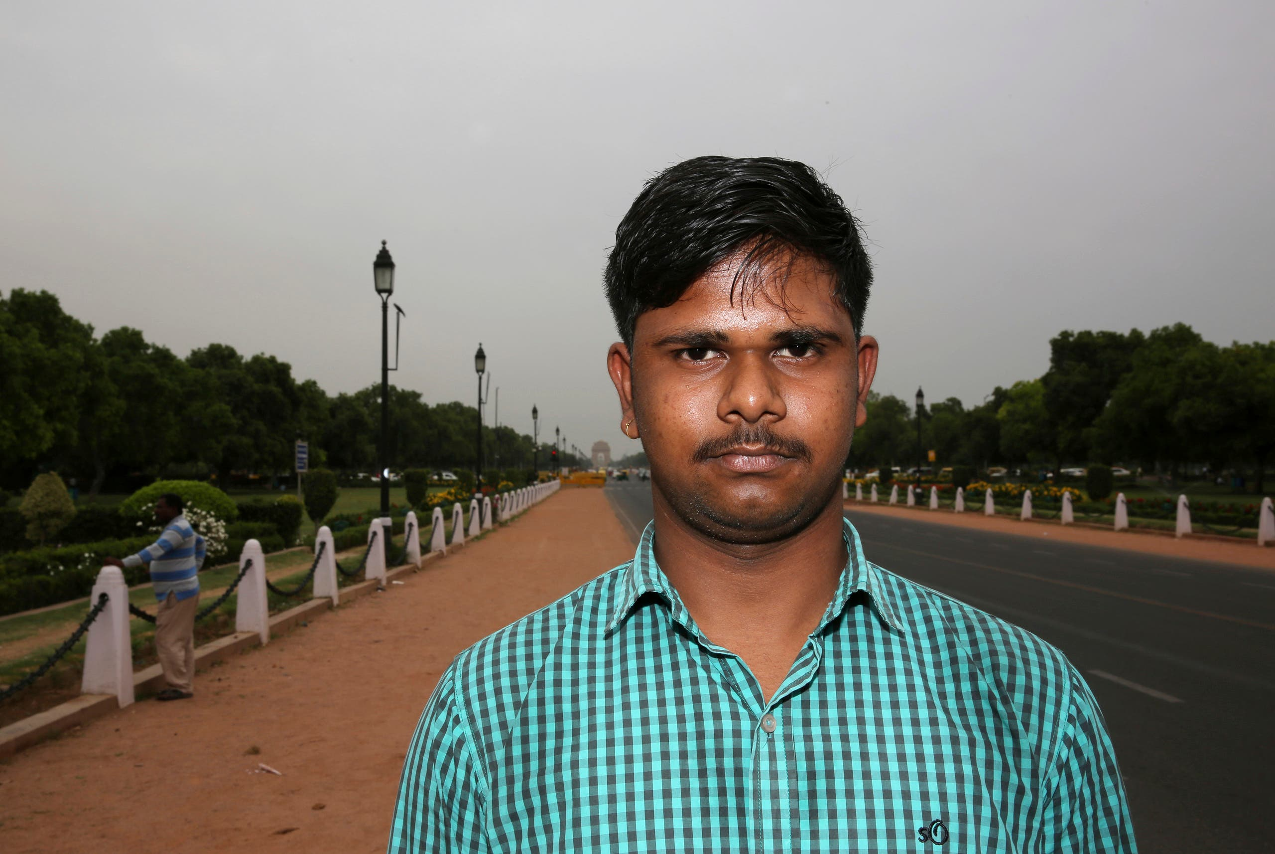 In this Tuesday, April 16, 2019, photo, engineering student Mayank Thakur, 18, stands for a photograph in New Delhi, India. (AP)