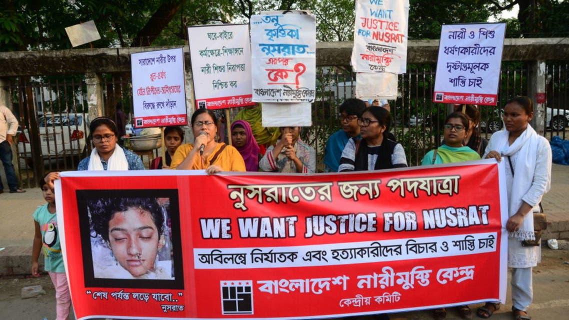 احتجاجات في بنغلادش بعد مصرع فتاة حرقا