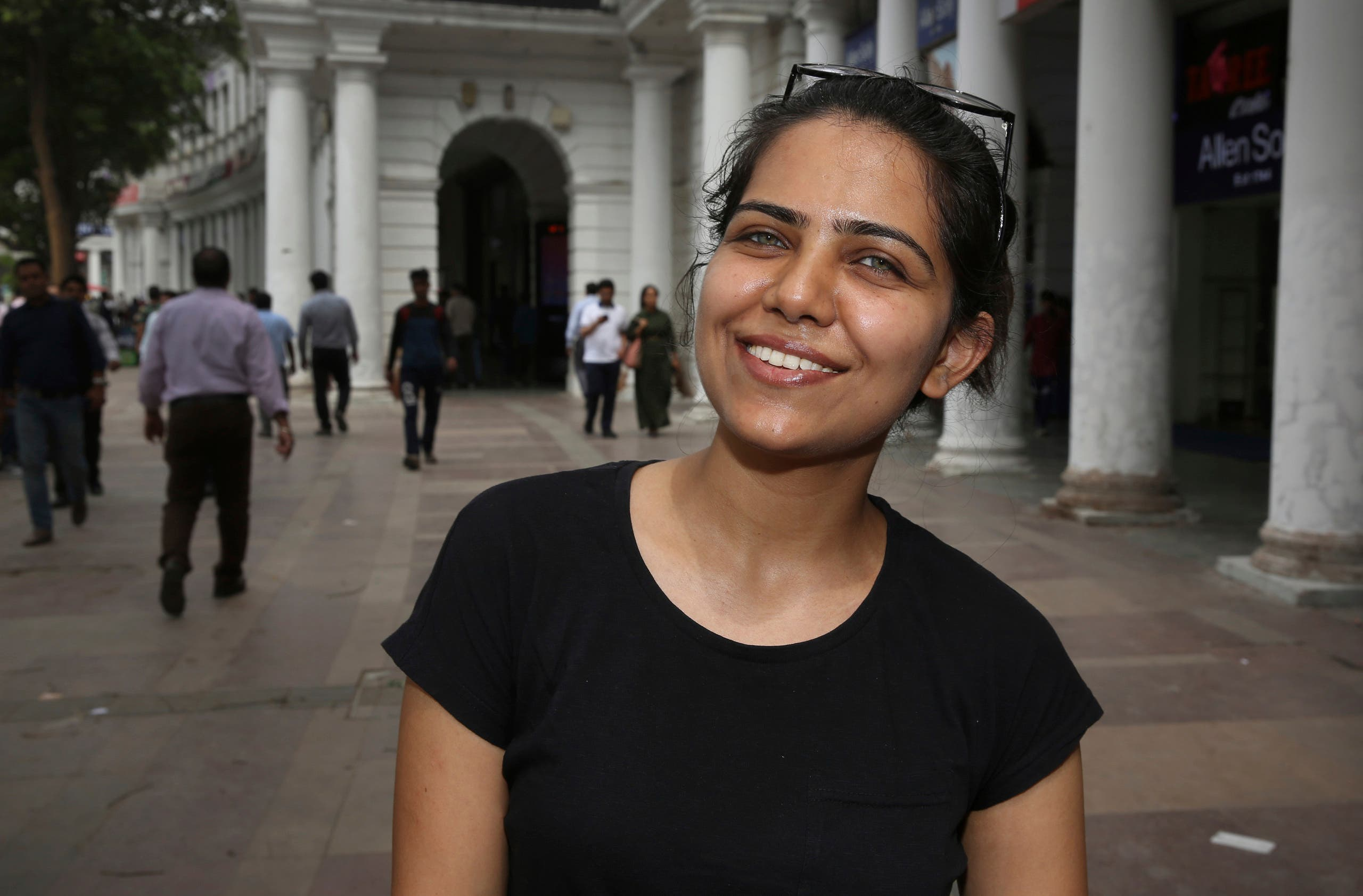 Monika Dalal, 20, a psychology student talks to associated Press in New Delhi, India. (AP)