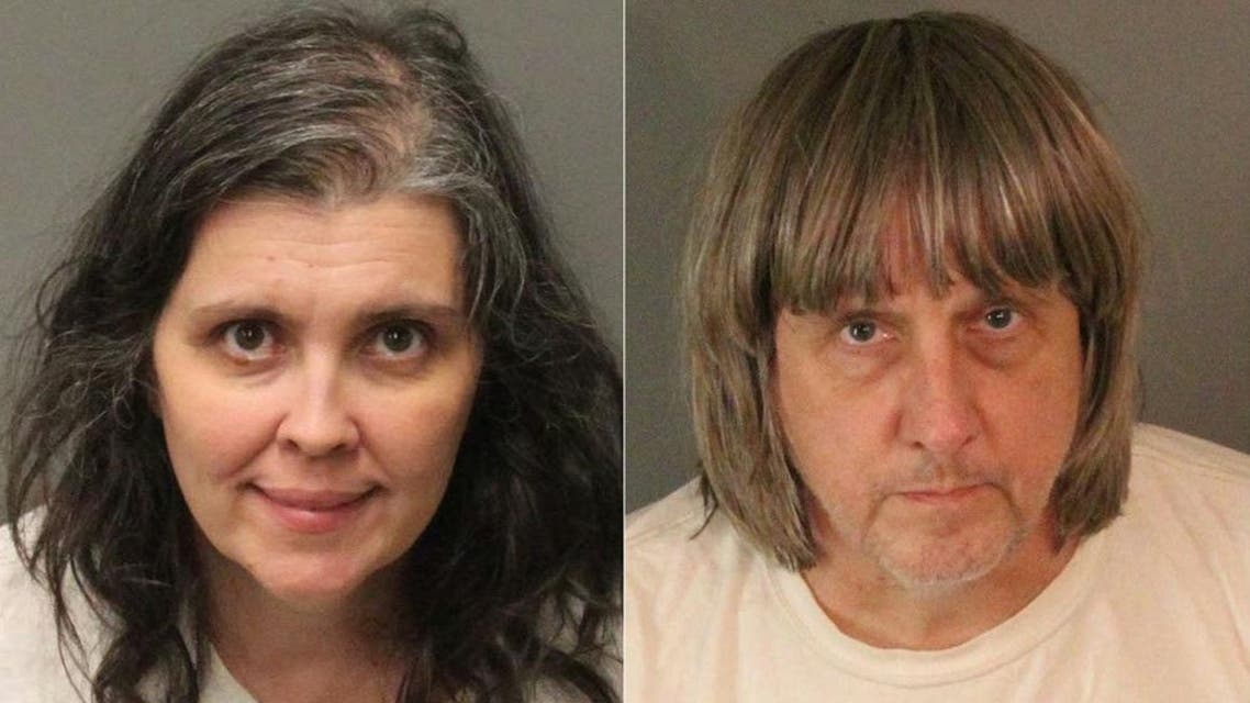 David Allen Turpin, 57, and his wife Louise Anna Turpin, 50, had pleaded guilty to 14 felony counts. (AFP)