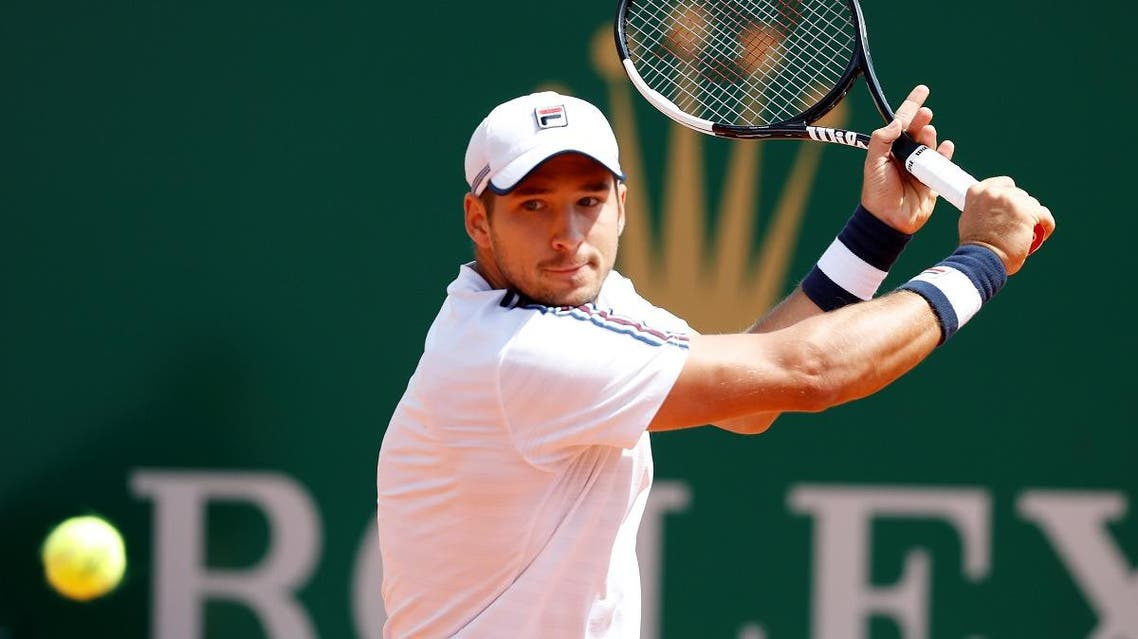 Serbia's Dusan Lajovic in action during his match against Russia's Daniil Medvedev. (Reuters)