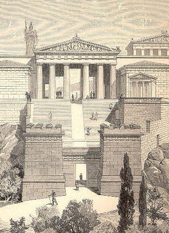 رسم تخيلي للبروبيلايا  قديما