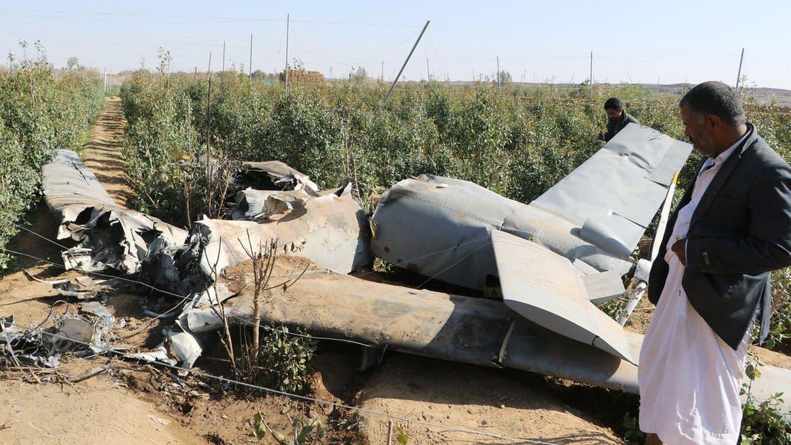 طائرة مسيرة درون بدون طيار حوثية اليمن