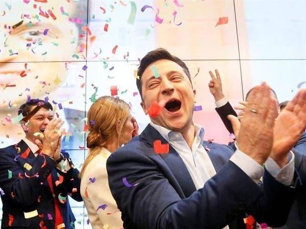 استطلاع.. فوز ساحق للكوميدي زيلينسكي برئاسيات أوكرانيا