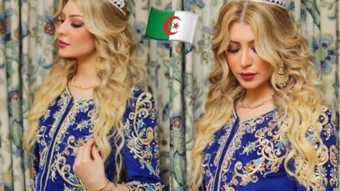 ملكة جمال العرب سمارة يحيى بالزي العاصمي الجزائري