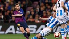 جوردي ألبا ينقذ برشلونة من فخ ريال سوسيداد