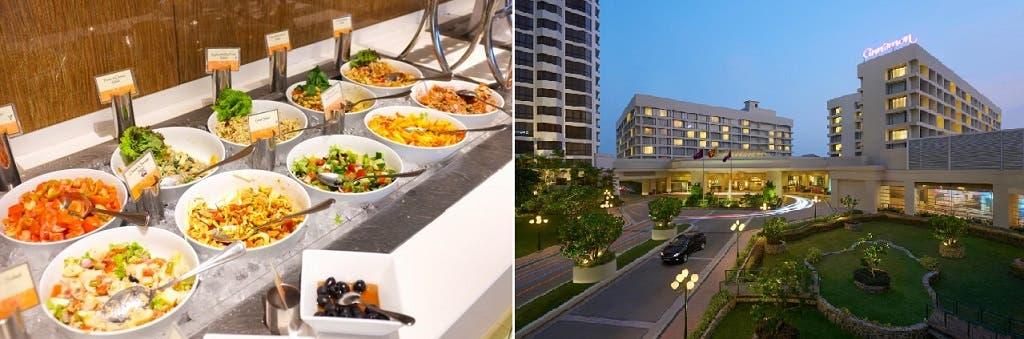 الفندق وبوفيه الإفطار الصباحي في مطعمه تابرومان، حيث فجر النزيل المزيف نفسه وغيره