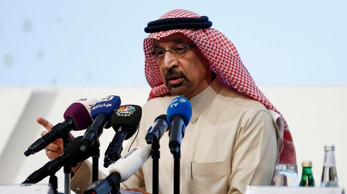 Saudi Energy Minister Khalid al-Falih speaks during a news conference in Riyadh. (File photo: Reuters)