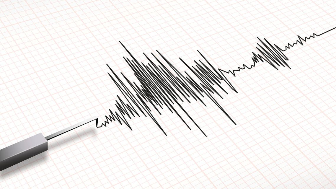 Seismograph machine earthquake vector - Illustration
